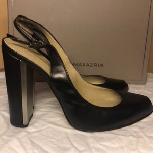 BCBGMAXAZRIAGROUP goat leather black heels US10